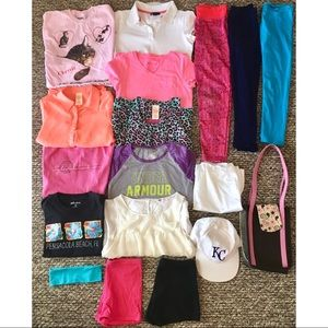 Huge Lot of Girl Size 10/12 Clothes Shirt Leggings